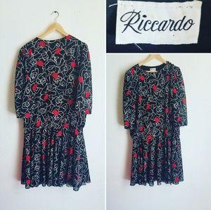 Vintage Riccardo Floral Dress